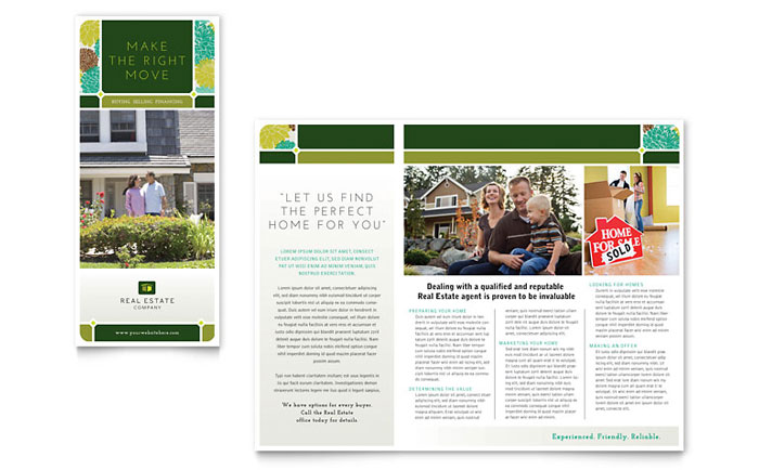 Real Estate Brochure Template Word Publisher - Real estate sales brochure template
