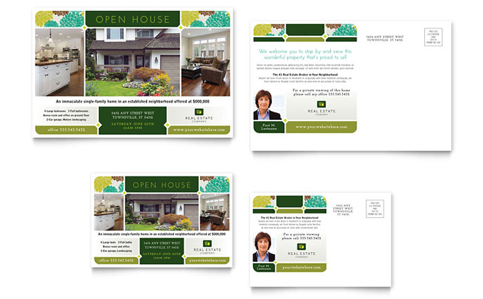 Real Estate Postcard Template Word Publisher