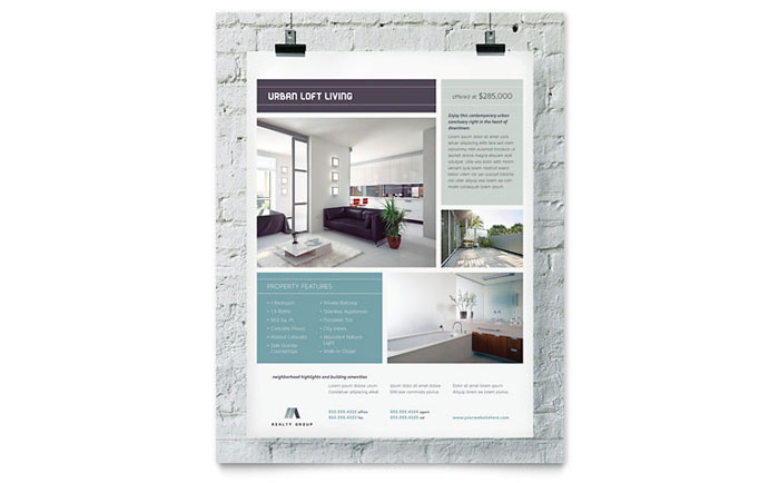 Urban Loft Flyer Template Download - Word & Publisher - Microsoft Office