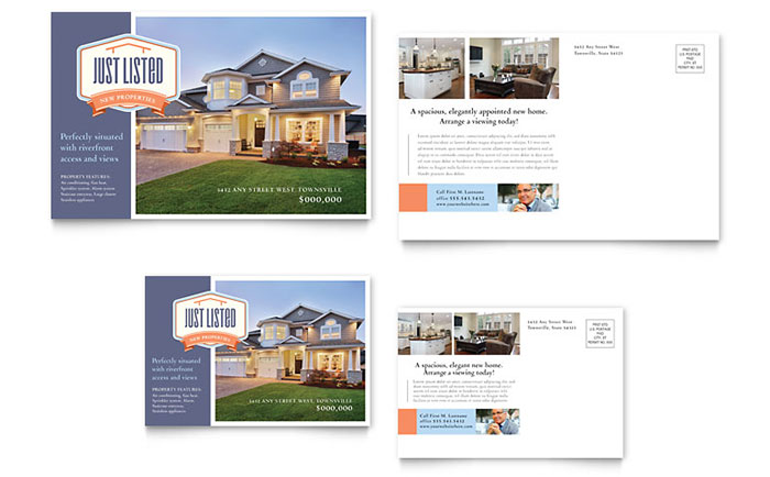 New Property Postcard Template Download - Word & Publisher - Microsoft Office