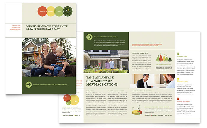 HalfFold BiFold Brochures Word Publisher Templates - Bi fold brochure template publisher