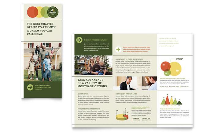 Mortgage Broker Tri Fold Brochure Template - Word & Publisher
