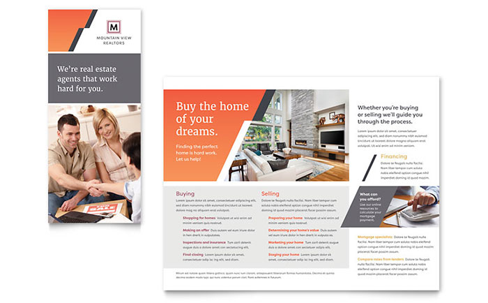 Mountain Real Estate Brochure Template - Word & Publisher