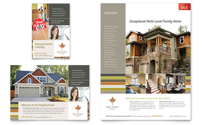 Free Sample Flyer Templates Word Publisher Templates - Real estate brochure template free download