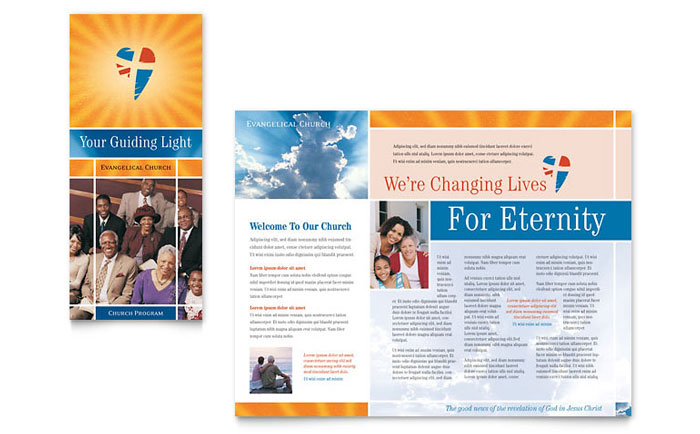 evangelical church brochure template word publisher