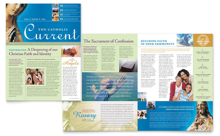 free publisher newsletter templates - catholic parish and school newsletter template word