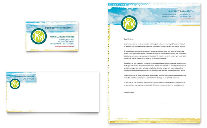 special education business card letterhead template word publisher