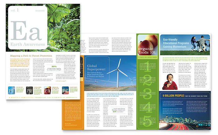 environmental agricultural non profit newsletter template word