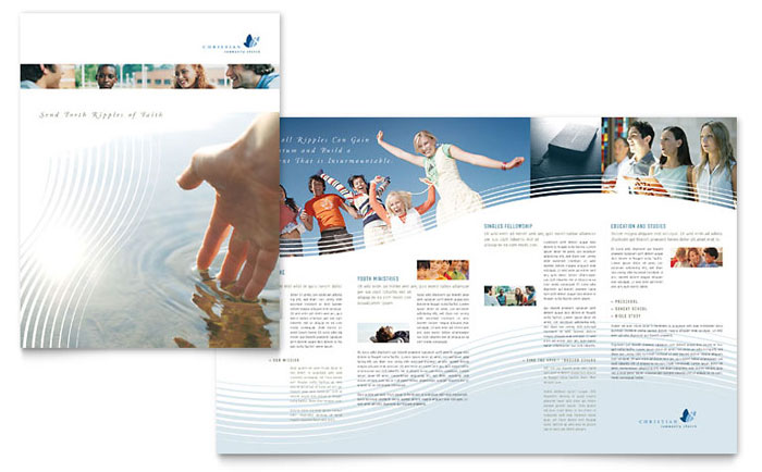 christian ministry brochure template word publisher