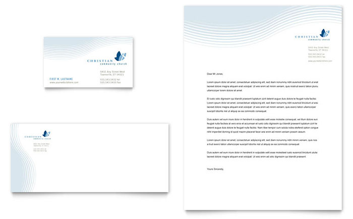 christian ministry business card letterhead template word publisher