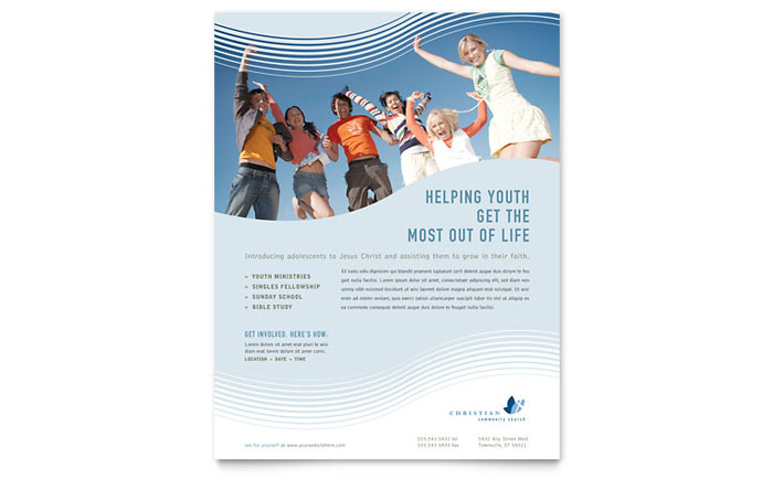 religious flyers template free - christian ministry flyer template word publisher