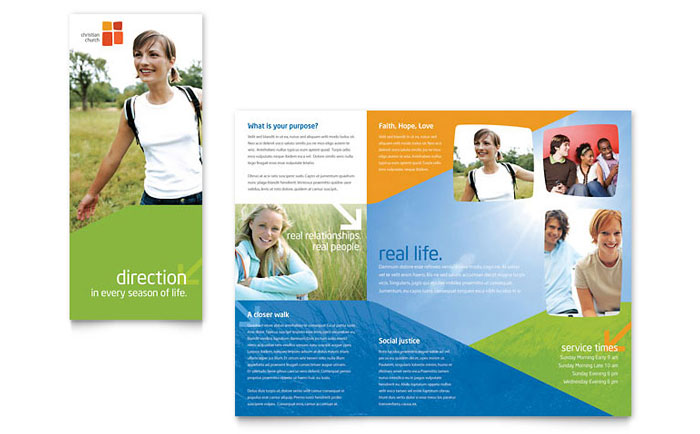 Church youth ministry brochure template word publisher for Ms office brochure templates