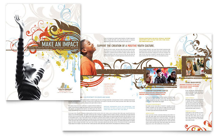 Church Youth Group Brochure Template Download - Word & Publisher - Microsoft Office