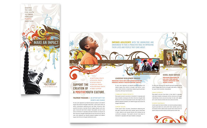 Church Youth Group Brochure Template Word Publisher - Free church brochure templates