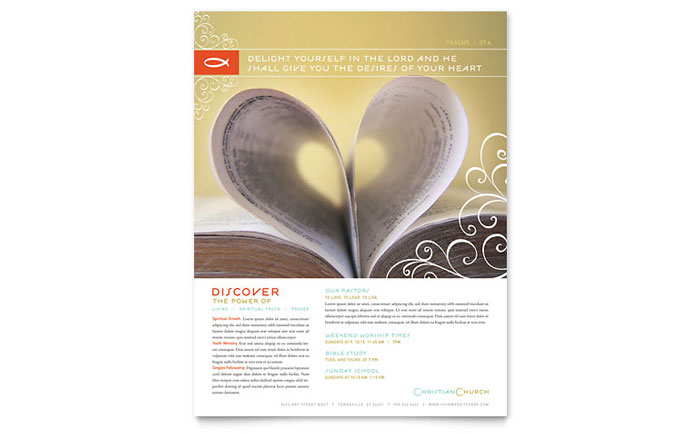 Christian Church Religious Flyer Template - Word & Publisher