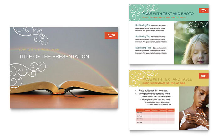 christian church religious powerpoint presentation - powerpoint, Modern powerpoint
