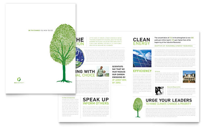 Environmental Non Profit Brochure Template - Word & Publisher