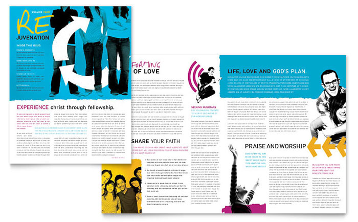 Church Outreach Ministries Newsletter Template  Word  Publisher