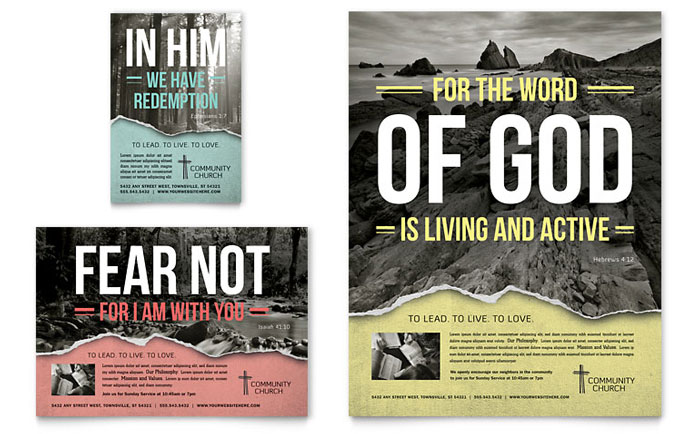 bible church flyer ad template word publisher