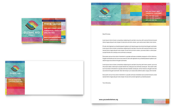 Humanitarian Aid Organization Business Card & Letterhead Template - Word & Publisher