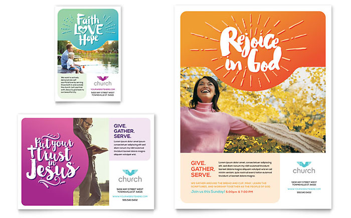 Church Flyer & Ad Template - Word & Publisher