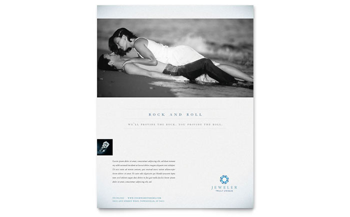 Jeweler & Jewelry Store Flyer Template - Word & Publisher