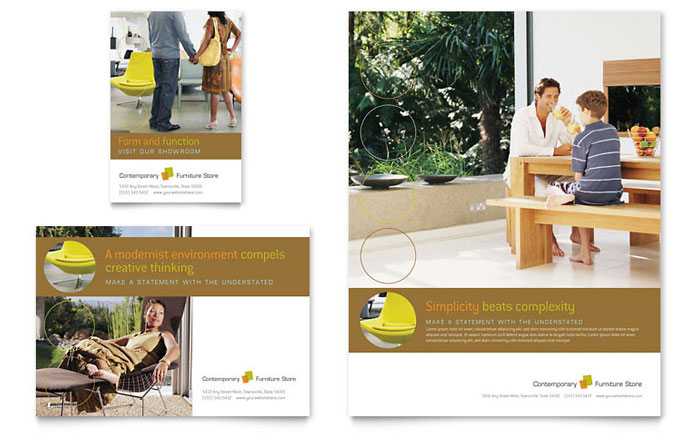 Furniture Store Flyer & Ad Template - Word & Publisher