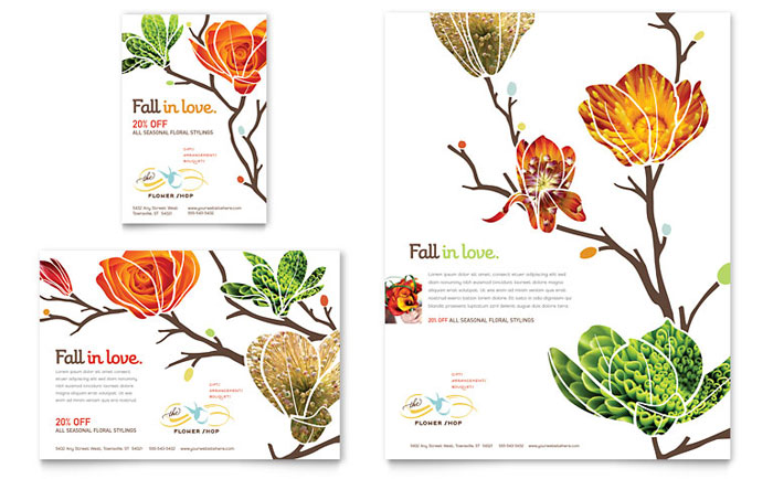 Flower Shop Flyer & Ad Template - Word & Publisher