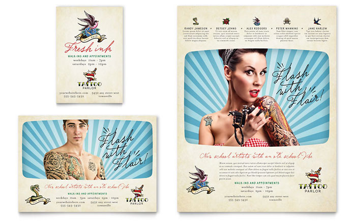 Body Art & Tattoo Artist Flyer & Ad Template - Word & Publisher