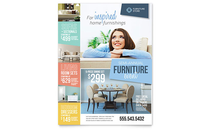 Home Furnishings Flyer Template - Word & Publisher