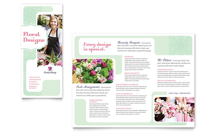 Florist Brochure Template - Word & Publisher