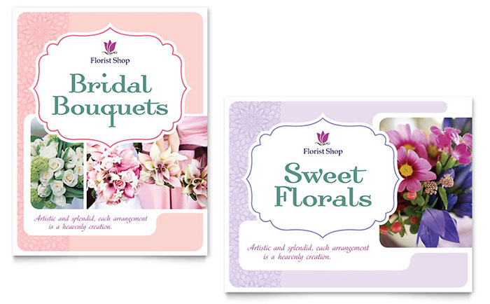 Florist Poster Template - Word & Publisher