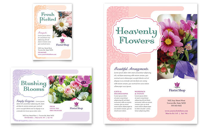 Florist Flyer & Ad Template - Word & Publisher