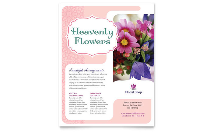 Florist Flyer Template Download - Word & Publisher - Microsoft Office