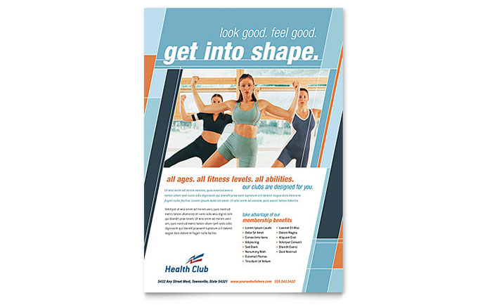 Health & Fitness Gym Flyer Template - Word & Publisher