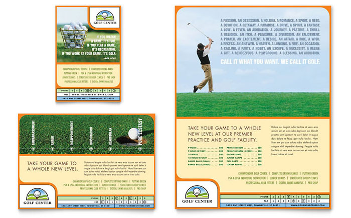 Golf Instructor & Course Flyer & Ad Template - Word & Publisher