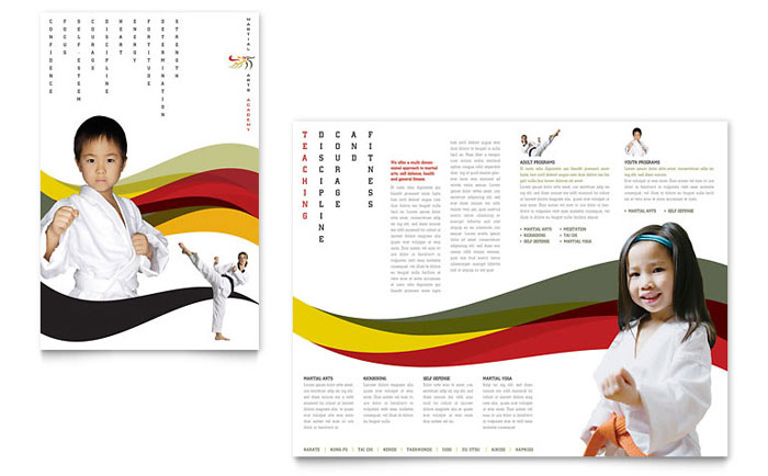 karate  u0026 martial arts brochure template