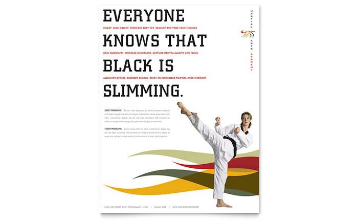 karate  u0026 martial arts flyer template