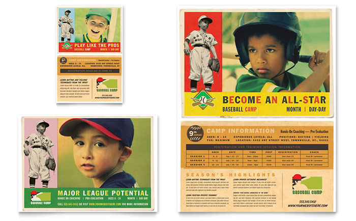 Baseball Sports Camp Flyer & Ad Template - Word & Publisher