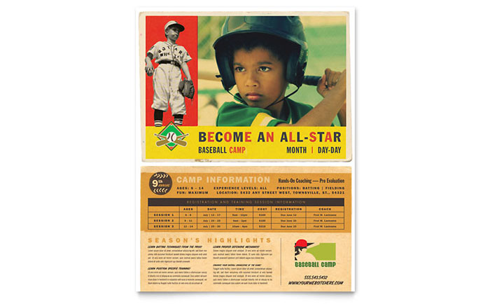 Baseball Sports Camp Flyer Template Download - Word & Publisher - Microsoft Office