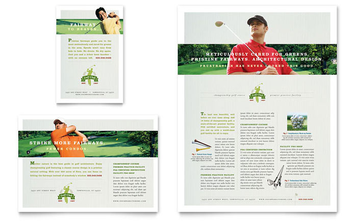 instruction leaflet template golf course instruction flyer ad template word