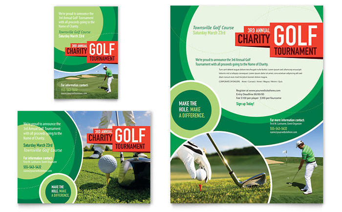 golf tournament flyer ad template word publisher. Black Bedroom Furniture Sets. Home Design Ideas