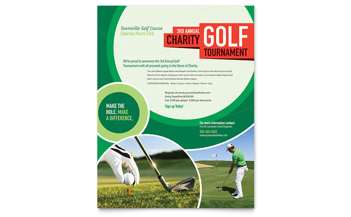 Golf Tournament Tri Fold Brochure Template Word Publisher - Brochure flyer templates