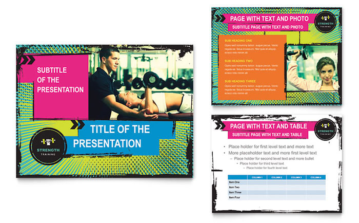 Strength Training PowerPoint Presentation Template - PowerPoint