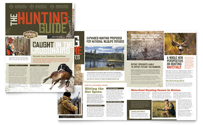 Hunting Guide Newsletter Template Download - Word & Publisher - Microsoft Office