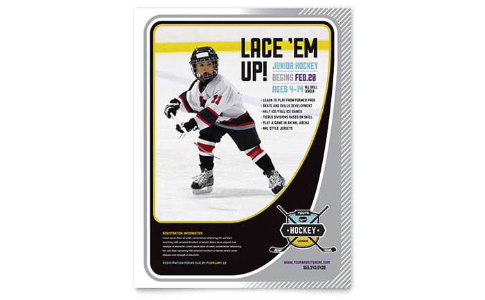 Junior Hockey Camp Flyer Template Download - Word & Publisher - Microsoft Office