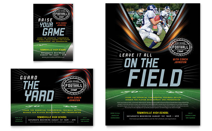 Football Training Flyer & Ad Template - Word & Publisher
