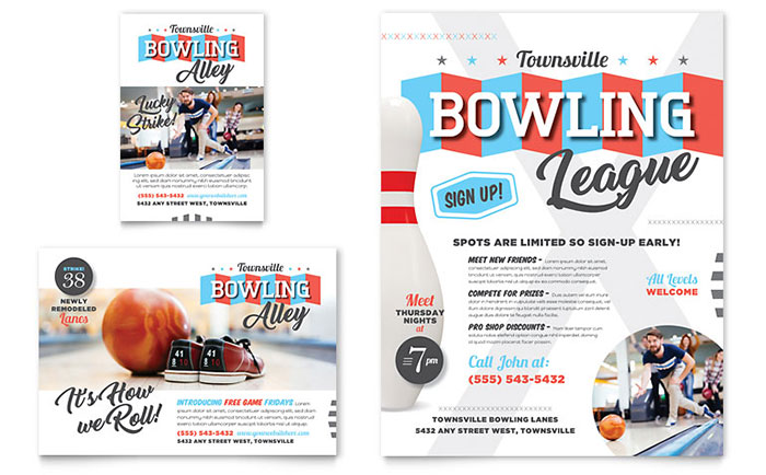 Bowling Flyer & Ad Template Download - Word & Publisher - Microsoft Office