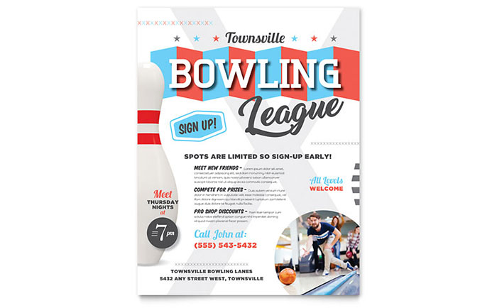 Bowling Flyer Template Download - Word & Publisher - Microsoft Office