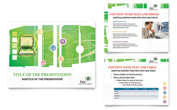 ISP Internet Service PowerPoint Presentation Template - PowerPoint